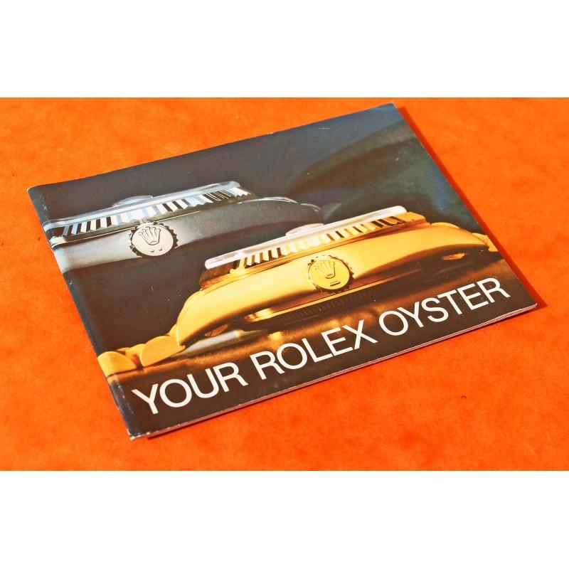 "LIVRET ROLEX ""YOUR ROLEX OYSTER"" 1986 DAYDATE OYSTERQUARTZ DATEJUST OR"