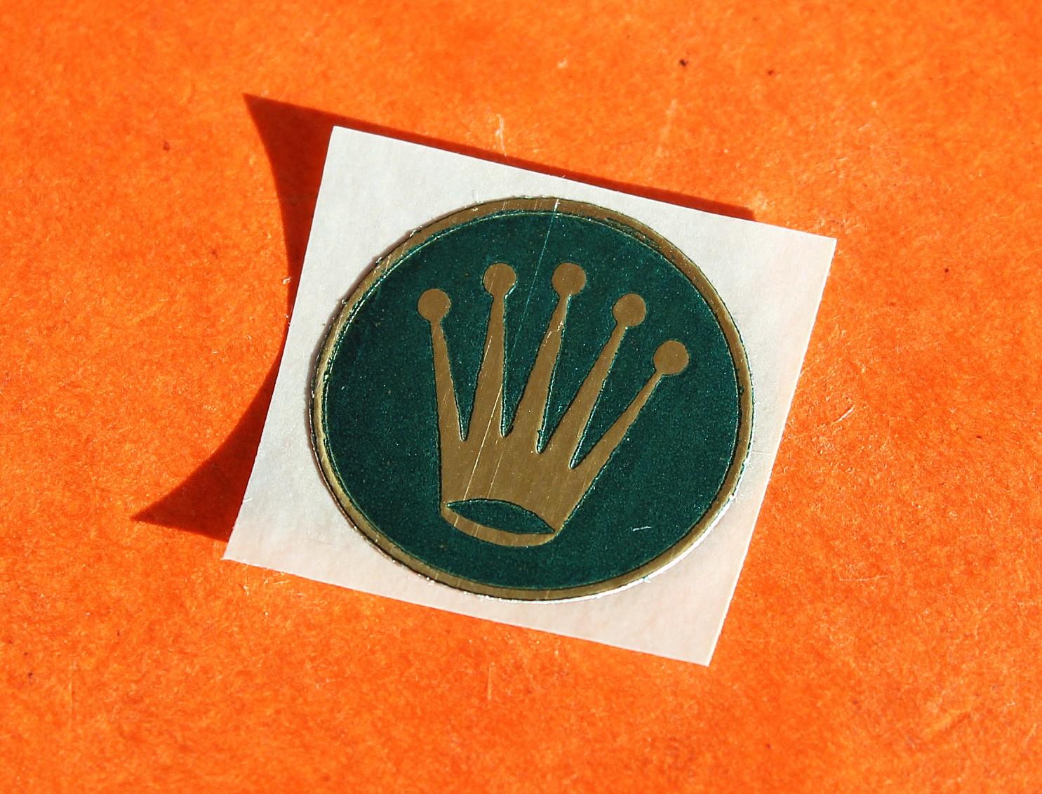 Vintage Rolex Sticker Adhésif vert 17mm Submariner, GMT, Explorer, Daytona 6263, 5512, 5513, 1680, 1655, 6542, 6538, 6241