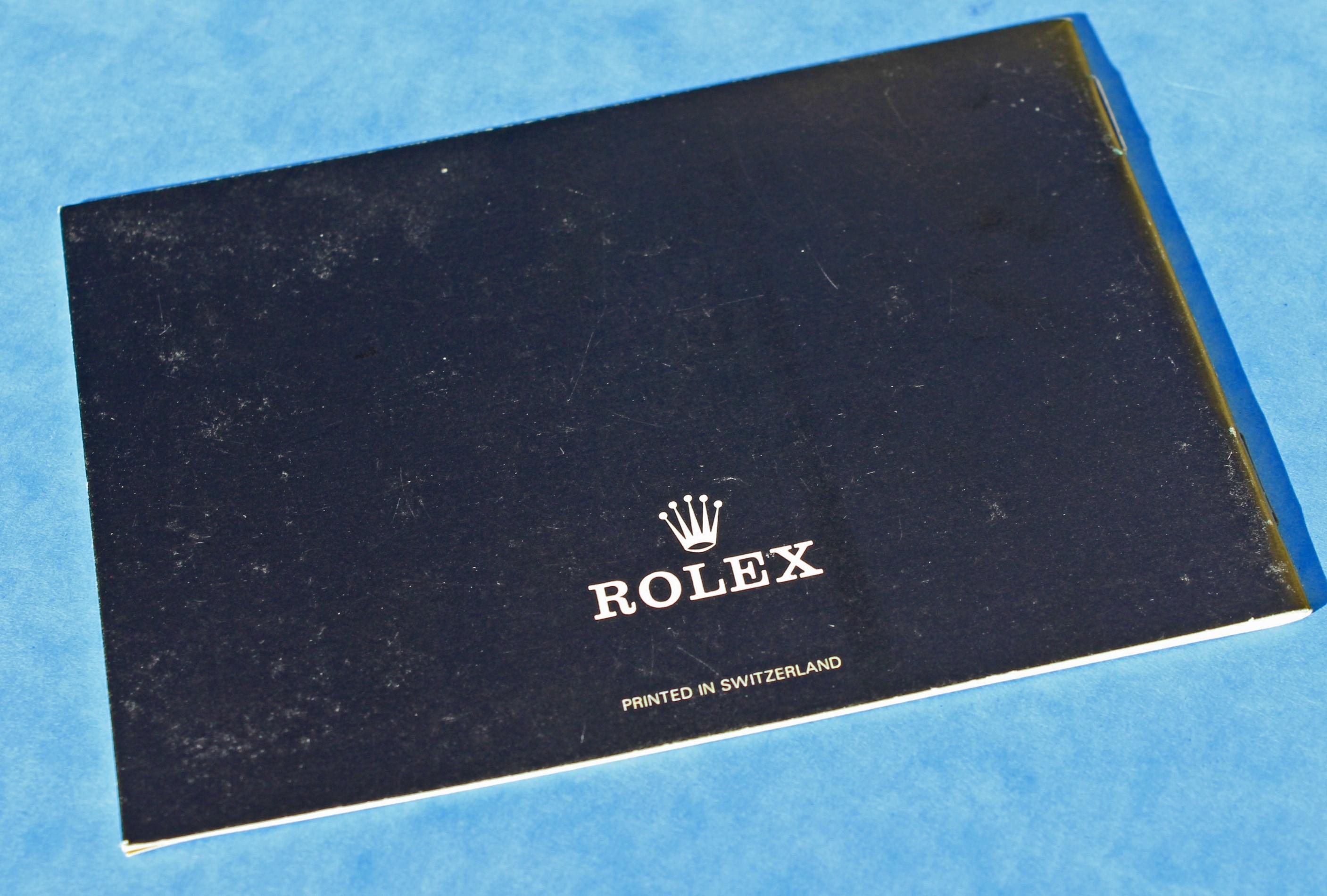 VINTAGE 1987 LIVRET ROLEX DATEJUST 16253, 16234, 16078, 68278, 69178 & Lady Datejust language Français