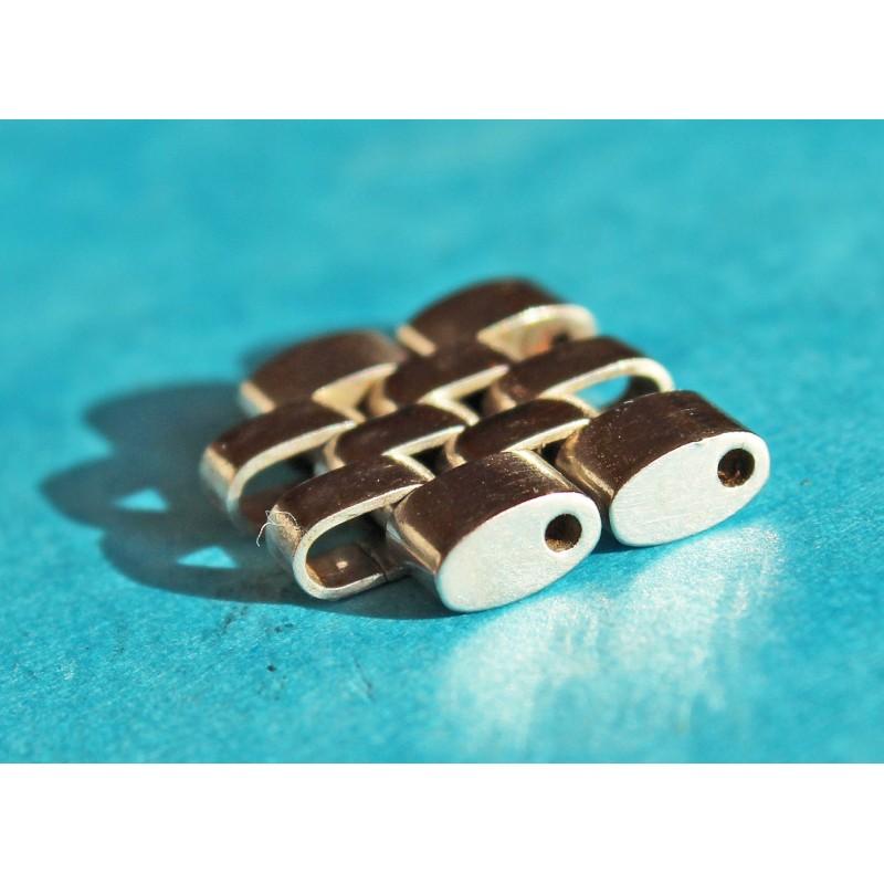 Rolex Datejust GMT 20/19mm Jubilee Watch Bracelet 2 Links Mens 15.5mm Oval 1601 Ssteel