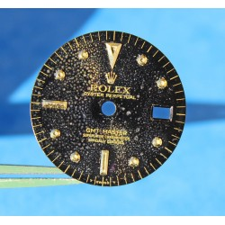 "Glossy ""Bubble effect"" Black Rolex GMT Master 1675/3, 1675/8 18k Yellow Gold/Stainless Steel Nipple Dial Cal 1575 Beyeler"
