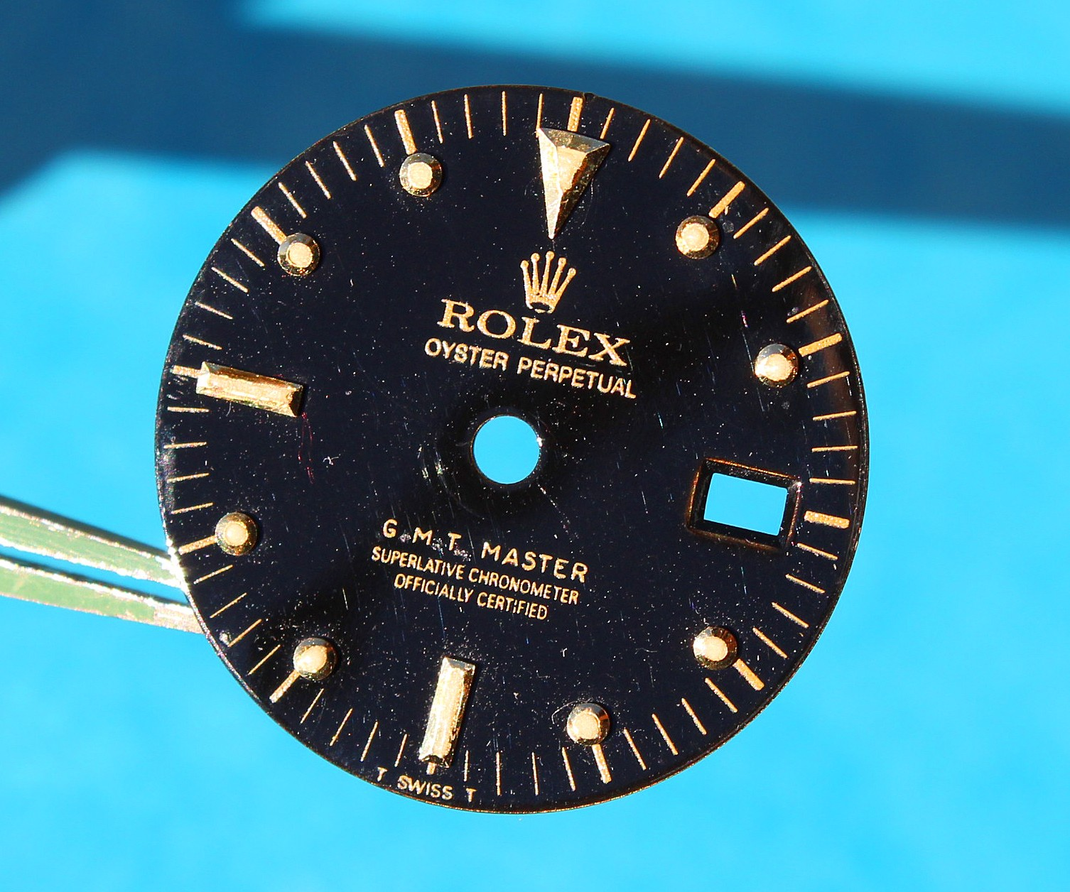 """Very rare Transition Rolex GMT Master II """"Nipple dial"""" Black Dial 16713, 16718 cal.3185 Gold & tutone models watches"""