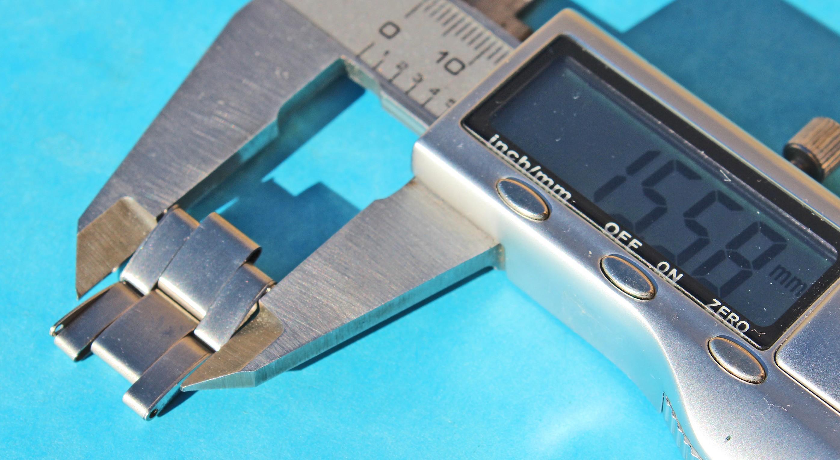 2x MAILLONS RIVETS 7205 -19mm ACIER ROLEX TUDOR BRACELET VINTAGE A RESTAURER