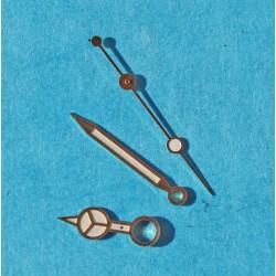 ROLEX SET AIGUILLES OR TRITIUM SUBMARINER DATE TRANSITION ref 16803, 16808, 16613, 16618, couleur ivoire cal 3035, 3135