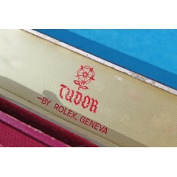 """RARE 40 / 50's VINTAGE RECTANGLE ROLEX TUDOR """"ROSE"""" LOGO COFFIN BOX BORDEAUX COLOR"""