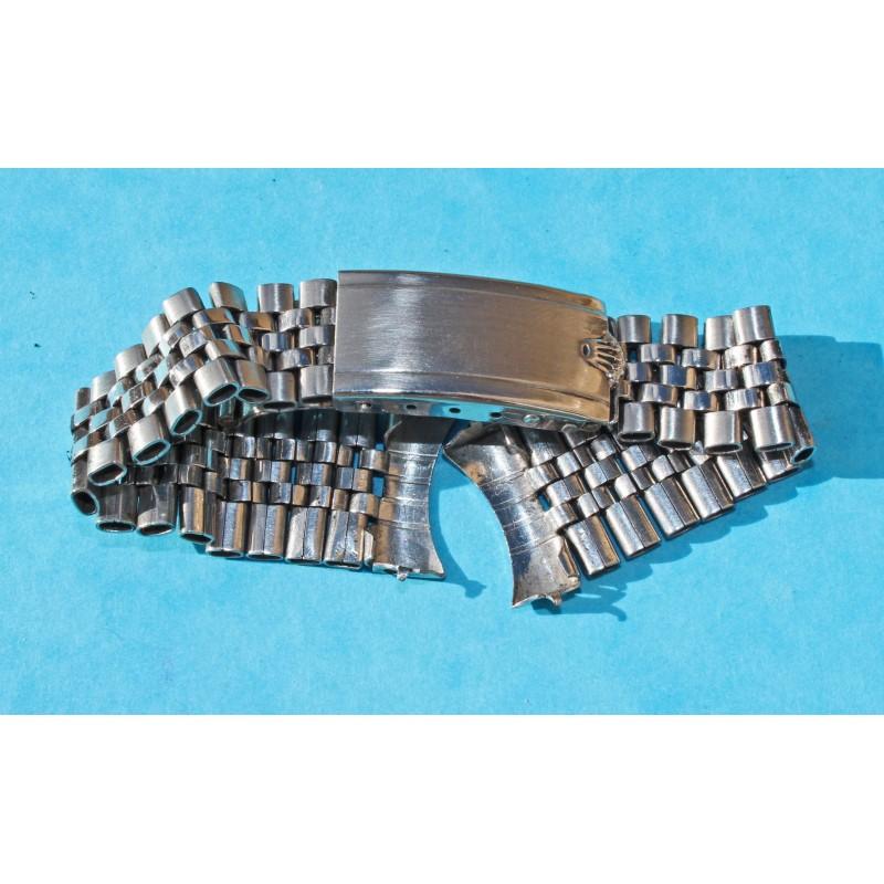 ♛♛ Rarest 50's ROLEX BIG LOGO Bracelets ssteel jubilée 19mm endlinks -First version jubilee !!! ♛♛