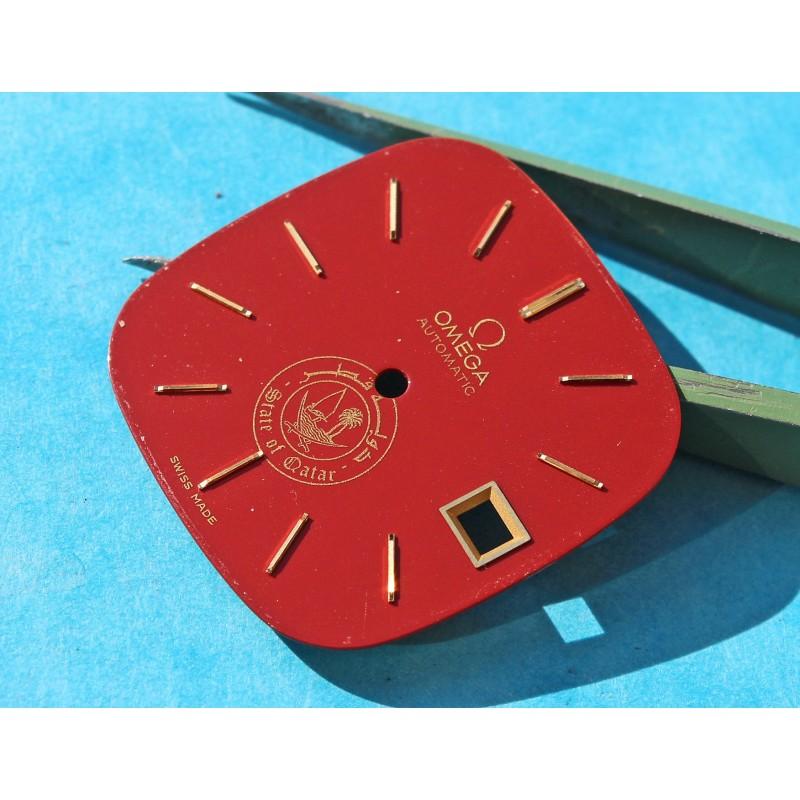 Original Limited OMEGA Seamaster Quartz Red / Burgundy color QATAR logo Dial 80's