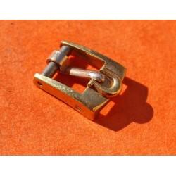 VINTAGE OMEGA BOUCLE ARDILLON LADIES 6mm BIG LOGO PLAQUE OR BRACELET CUIR