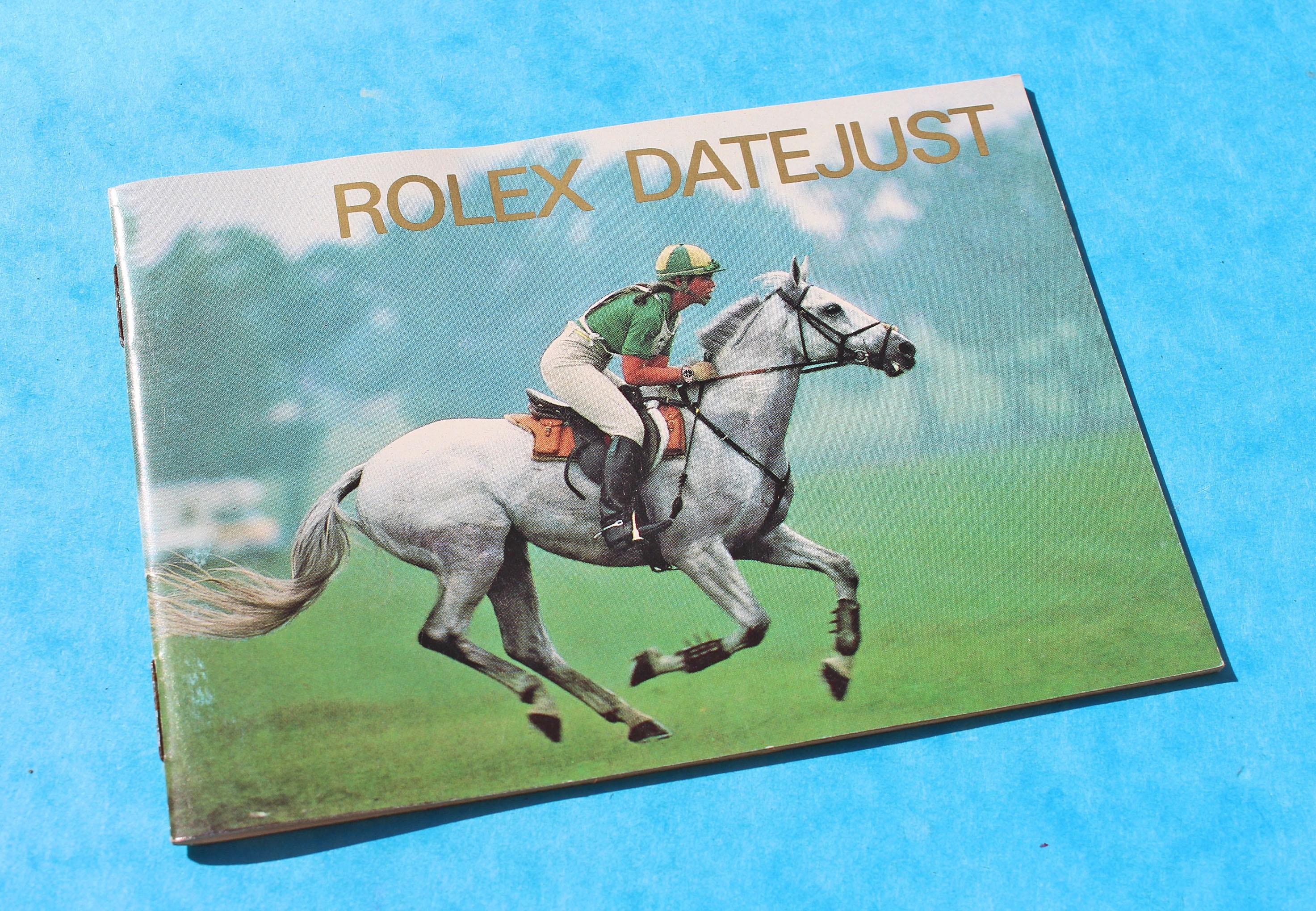 VINTAGE 1989 LIVRET ROLEX DATEJUST 16253, 16234, 16078, 68278, 69173 & Lady Datejust language Français