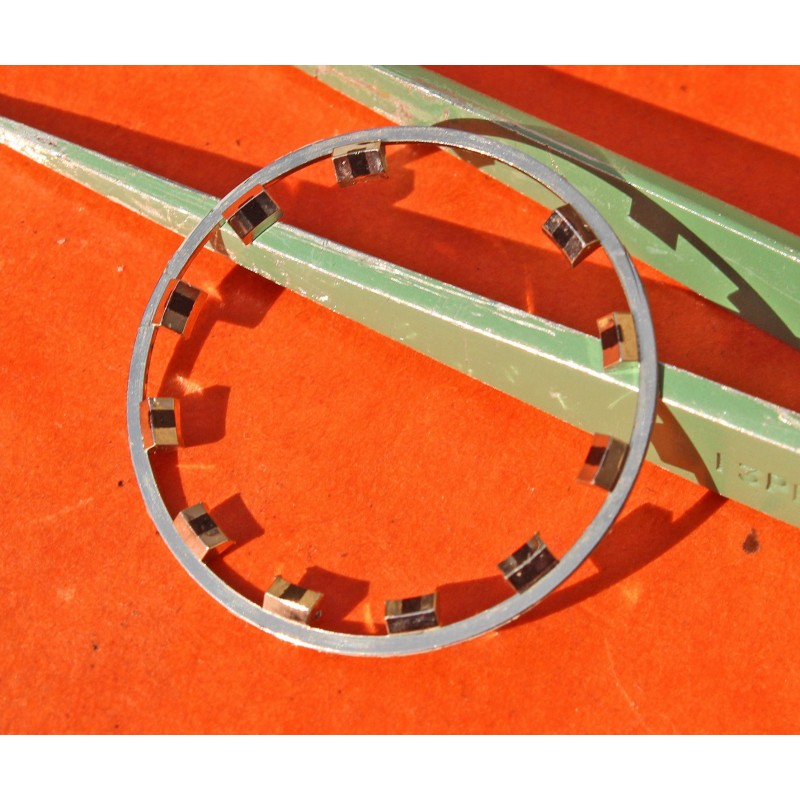 VINTAGE 70's LUNETTE CHROMEE INSERT INDEXS PLASTIQUE OMEGA 25mm