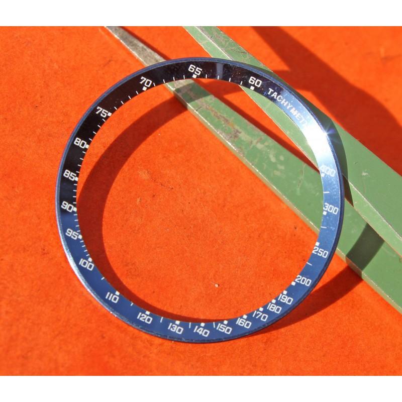 Rare 70's vintage Omega Speedmaster Mark III BLUE Tachymeter Inner Bezel insert silver indexes 176.002, 34.50mm diameter