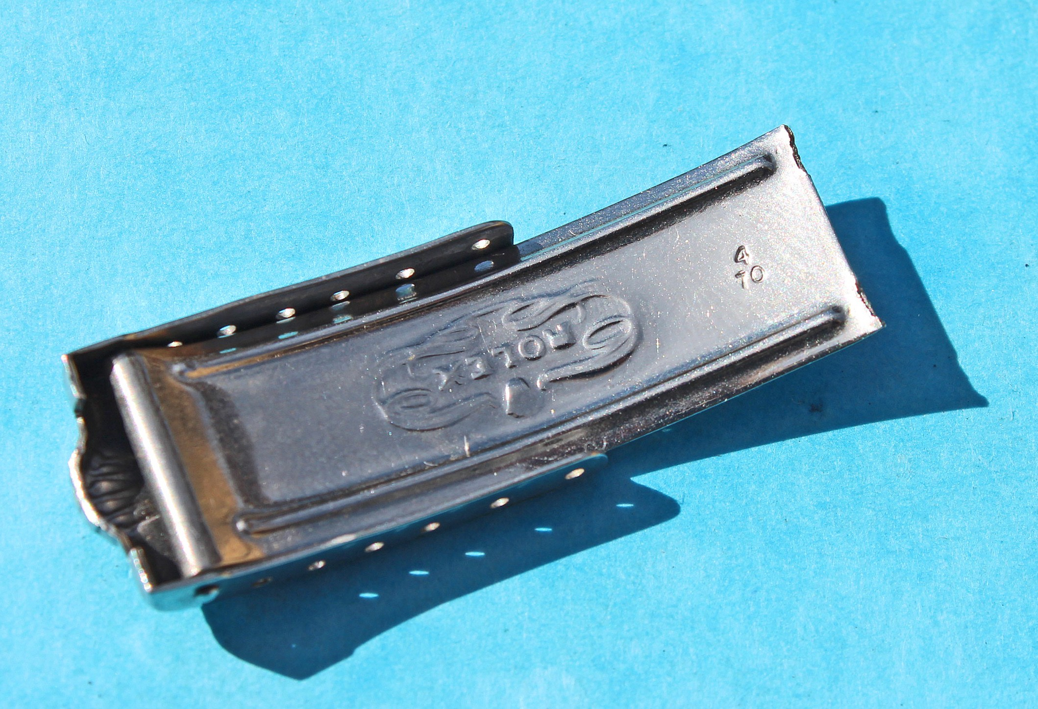 1970 Rolex Daytona Precision Oyster perpetual Big Crown Top cover Buckle 13.20mm from rivits Bracelet 19mm Watch Cover Clasp