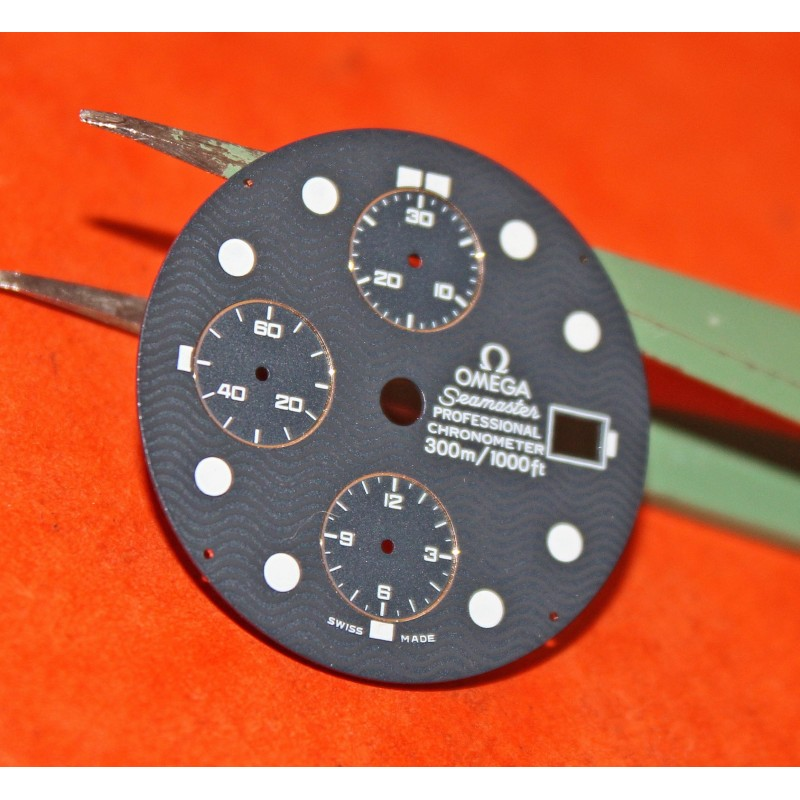 RARE CADRAN OMEGA CHRONOGRAPH SEAMASTER PROFESSIONAL 300m JAMES BOND 007 30.50mm diamètre