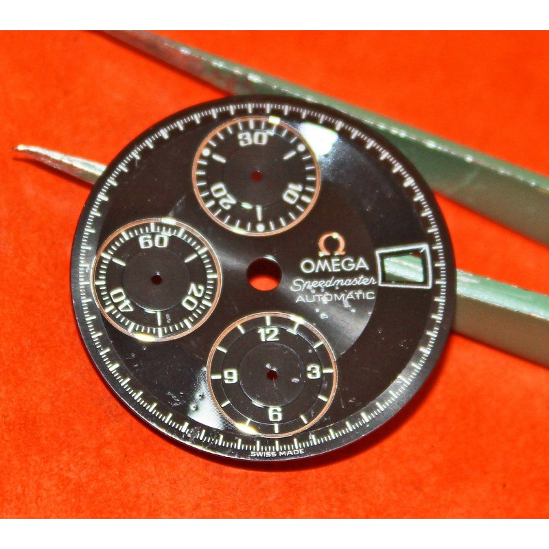 Original Omega Speedmaster Automatic wristwatch Dial 29,50 mm black glossy color