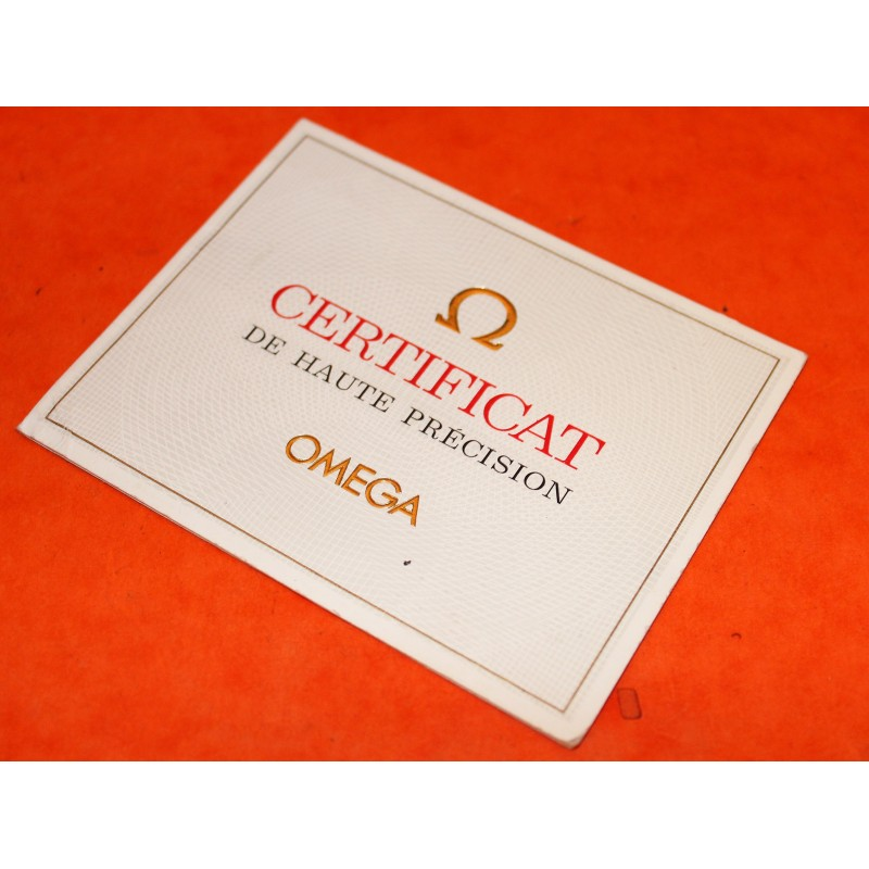 GENUINE OMEGA CHRONOMETER  CERTIFICAT DE HAUTE PRECISION PAPER FOR OMEGA CONSTELLATION WATCHES