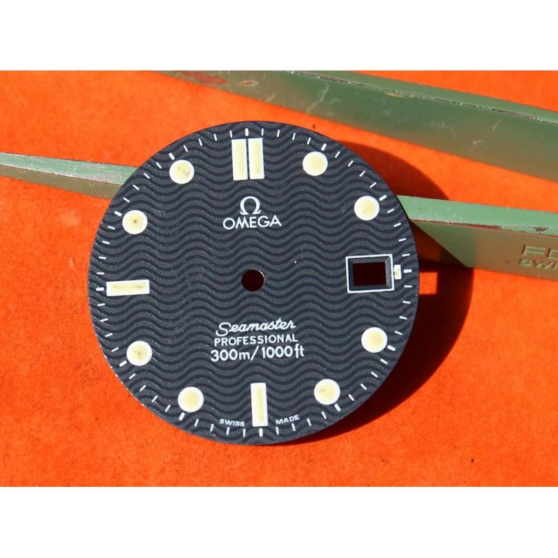 Original Luminova vintage Dark Blue OMEGA Seamaster Date Professional 300m Watch Dial Men's 26mm diameter James bond 007