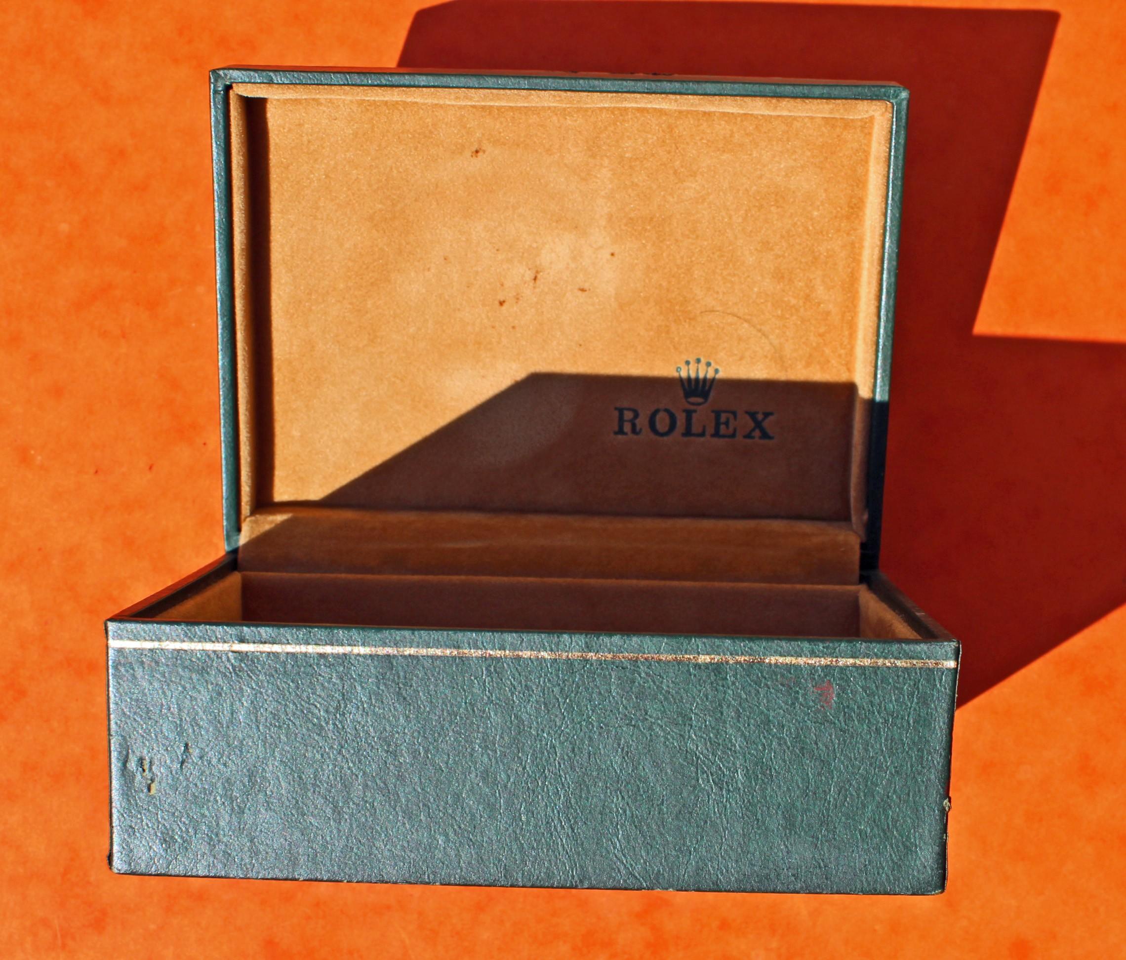 BOITE 70's ÉCRIN ROLEX VINTAGE DATEJUST, PRECISION, LADIES, OYSTER PERPETUAL 06.00.06 SWITZERLAND