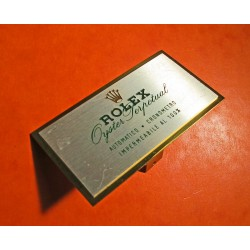 PLAQUE ROLEX GOODIES OYSTER PERPETUAL COLLECTION