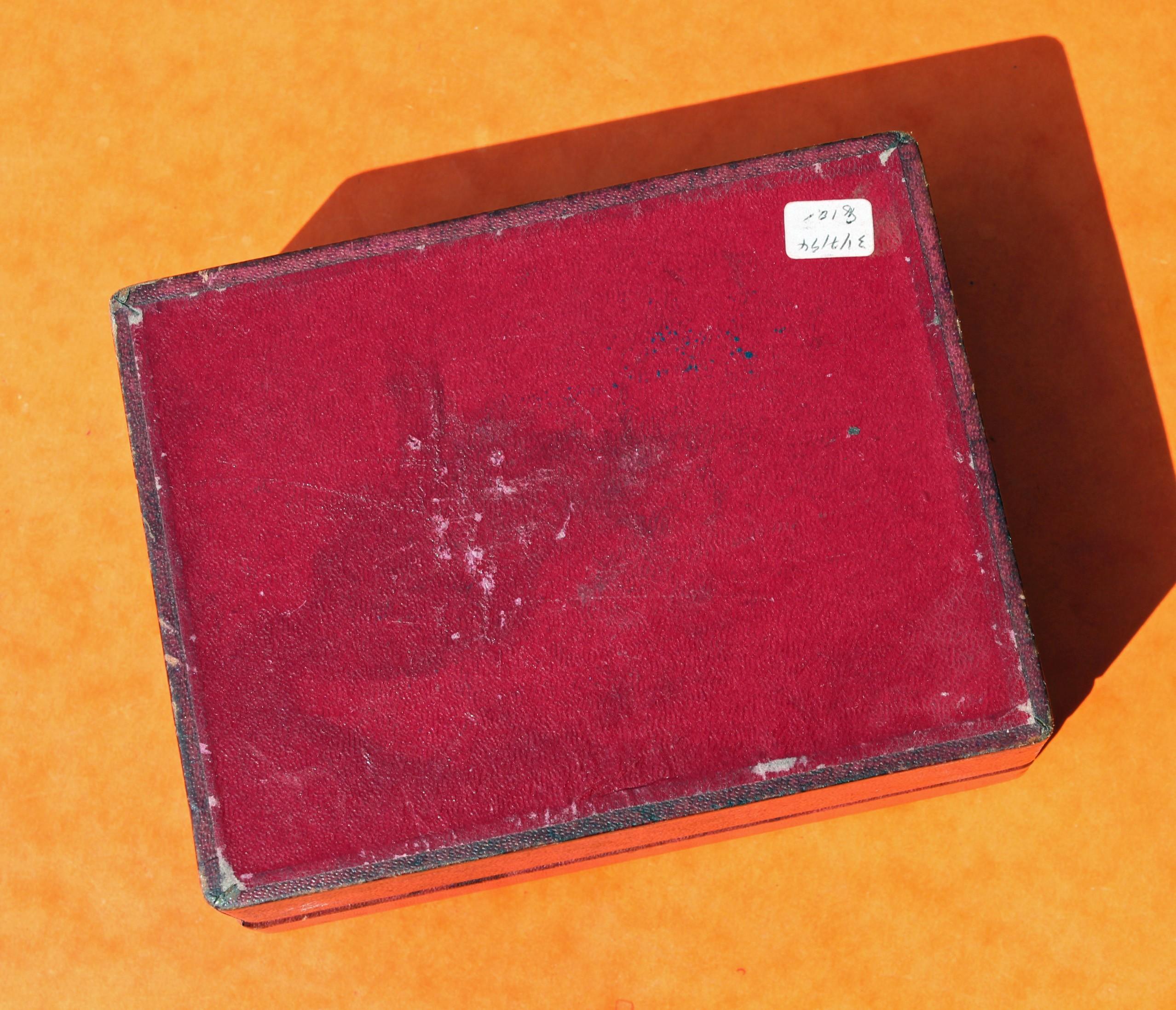 "RARE 40 / 50's VINTAGE ROLEX TUDOR OYSTERDATE PRINCE ""BIG ROSE"" LOGO WOODEN BOX BORDEAUX COLOR"
