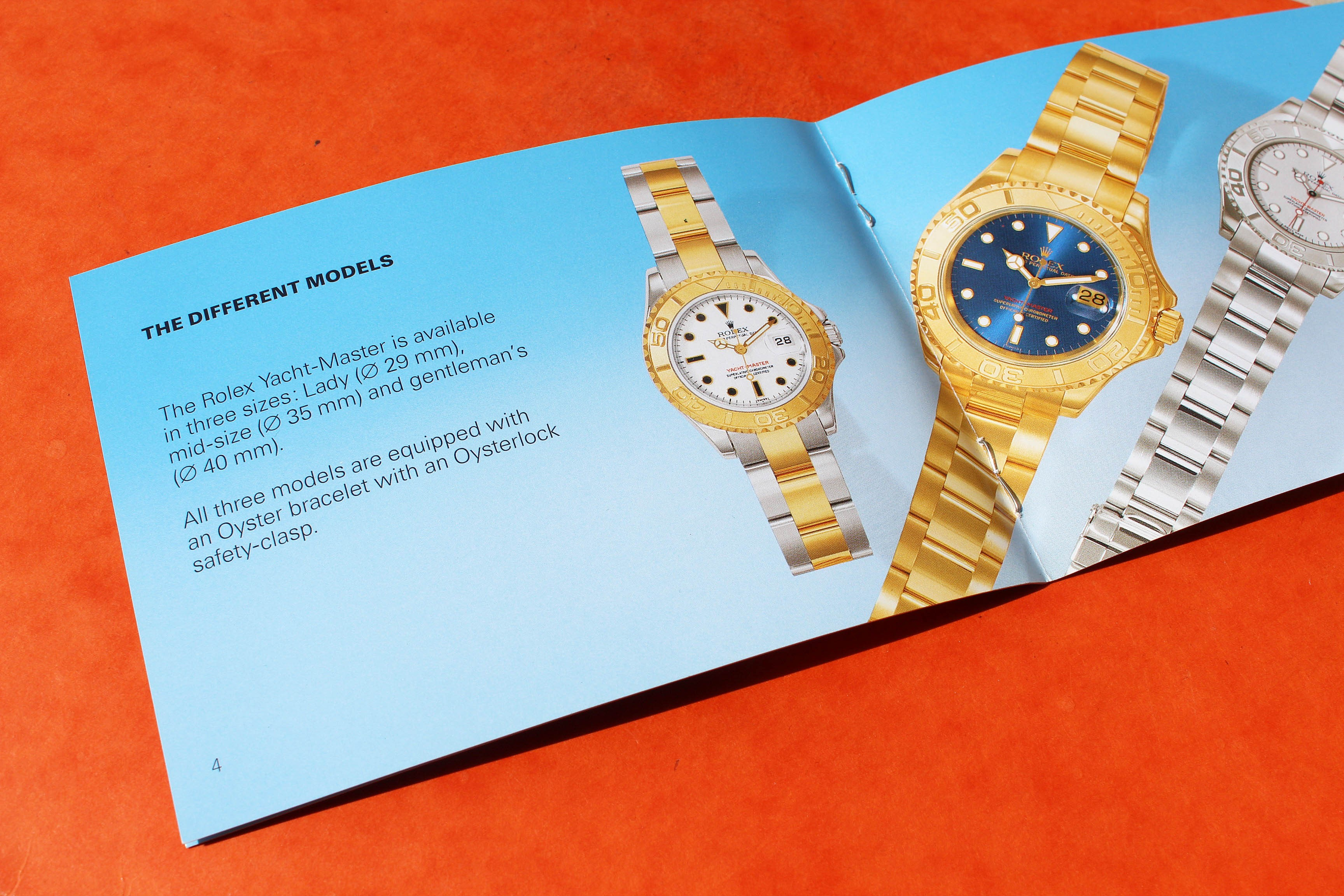 Rolex Yachtmaster Manual Booklet English 16622, 16623, 16628, 68623, 68628, 69623, 69628, 168622, 168623, 168628, 169622, 116622