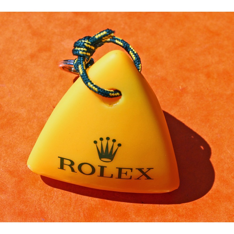 Rare Collector Porte Clefs ROLEX Bouée Jaune Yacht série limitée 2008 Rolex Swan Cup et 2011 Rolex Regatta