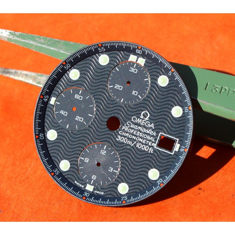 Factory 30.50mm Men's Omega  Dial luminova Seamaster 300m Chronograph Watch 178 0514 / 378 0514 Cal 1164 COSC