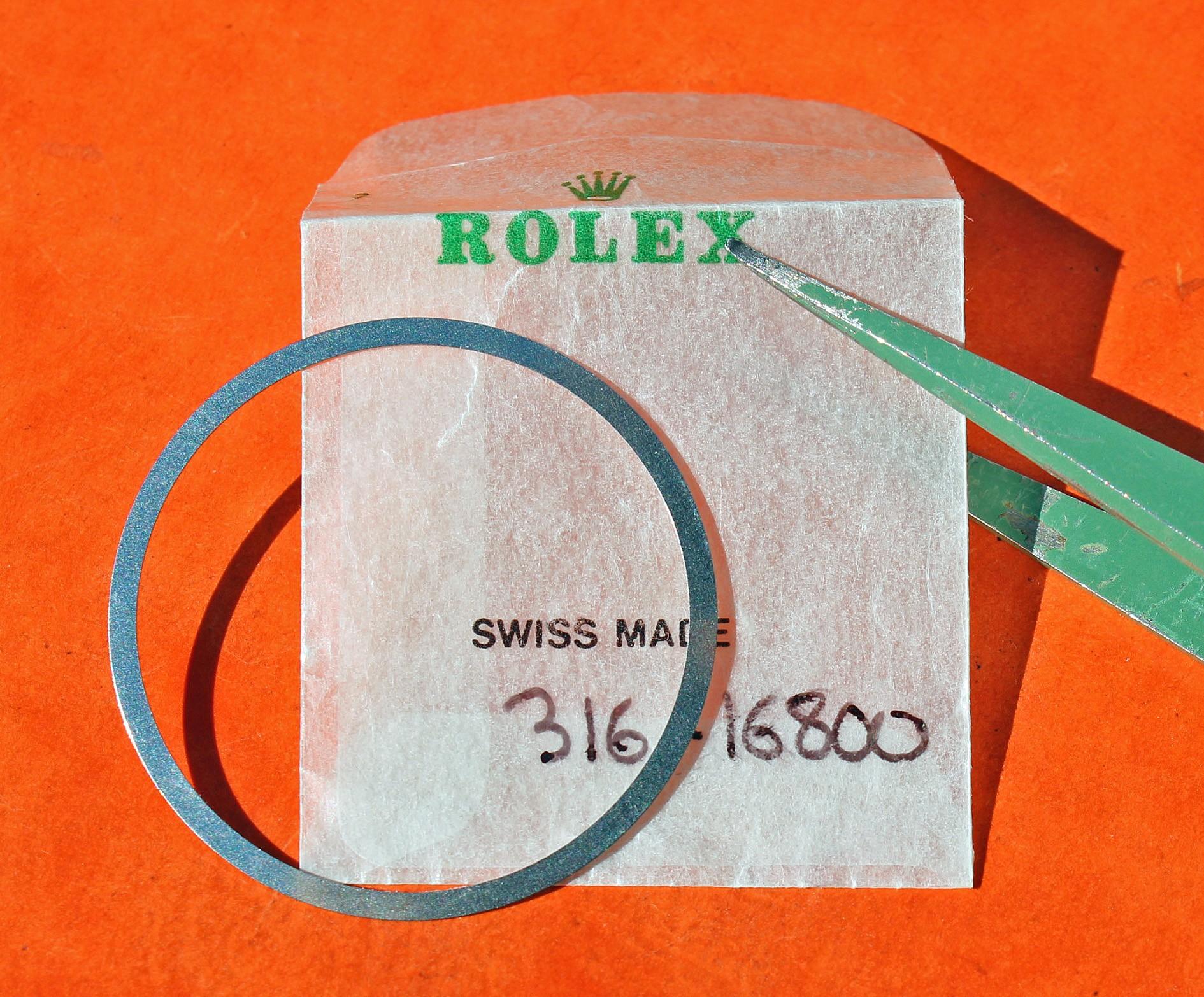 ROLEX SUBMARINER DATE 16800, 168000, 16610, RESSORT DE LUNETTE,TENSION SPRING DISQUE ANODISE DE LUNETTE