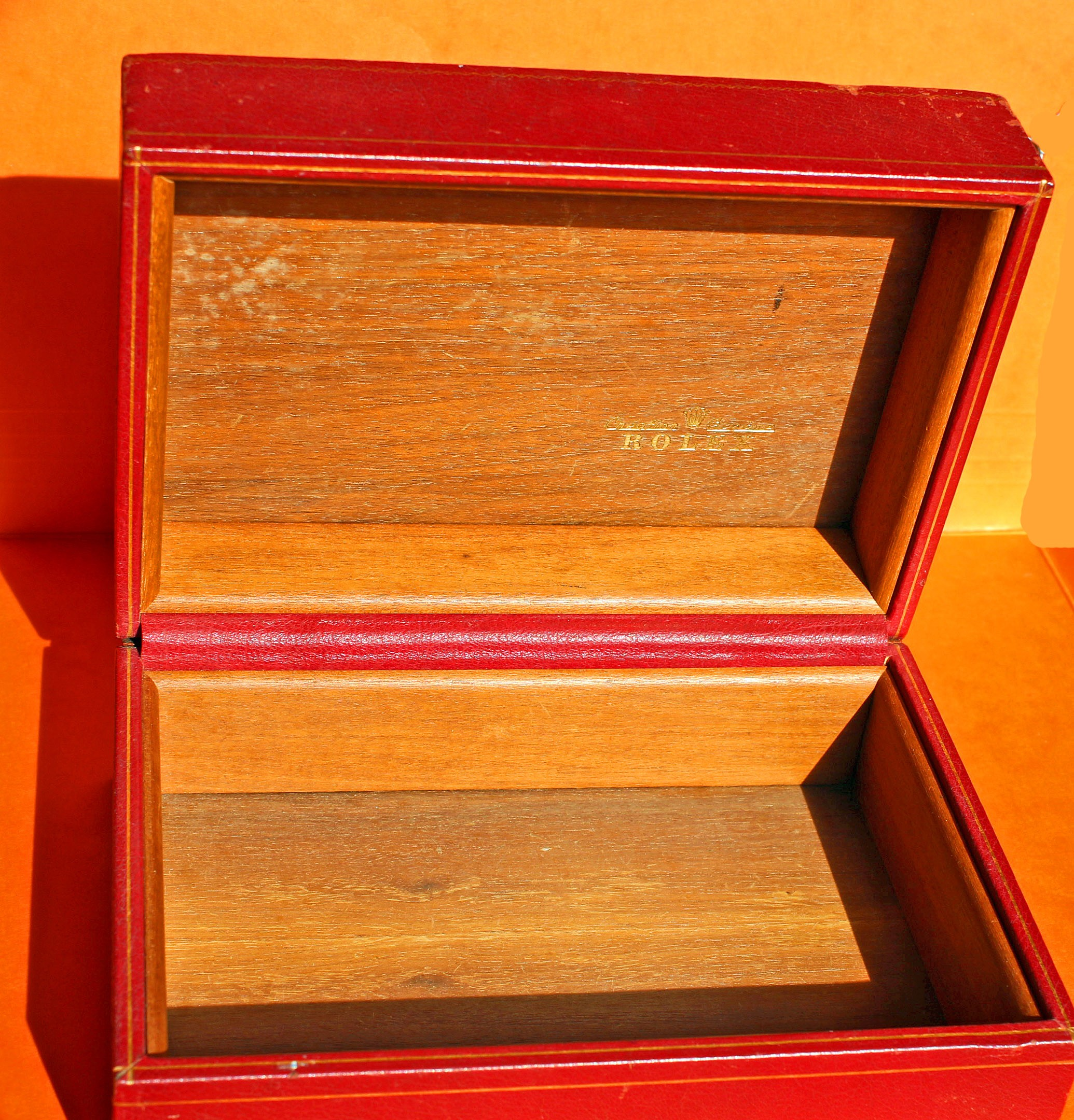 Rare 50/60's Vintage Big Red Watch BOX DATEJUST, AIR KING, MILGAUSS, DATEJUST, PRECISION, OYSTER PERPETUAL