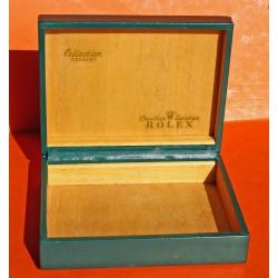 VINTAGE WATCH BOX SET ROLEX CELLINI, LARGE OBLONG, Ref 66.00.3 Green leather MONTRES ROLEX SA GENEVE