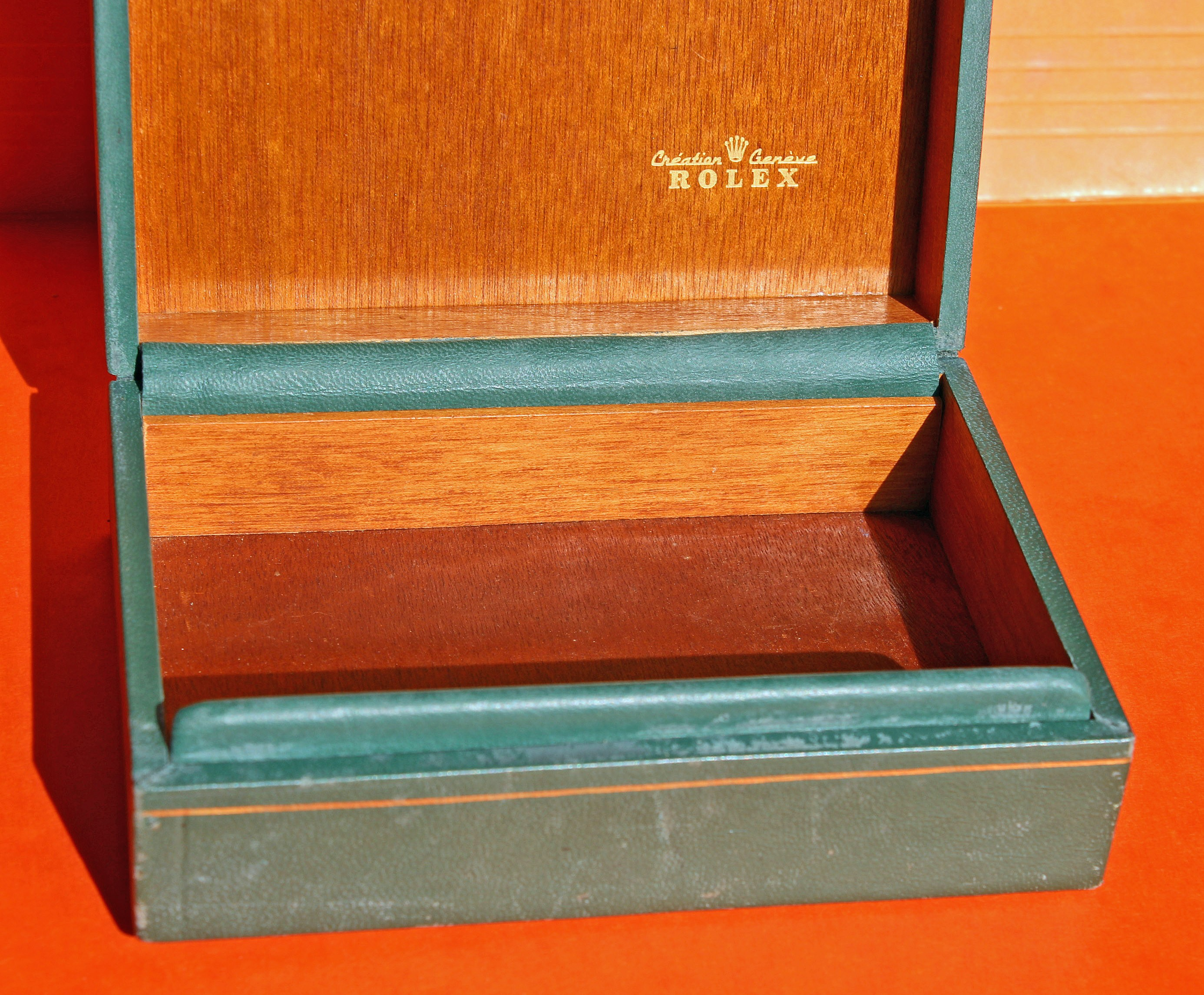 Rolex 70's Green Leather Watch Box Storage 69.00.4 Datejust, Oyster perpetual, Precision, oyster perpetual date, air king