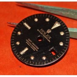 Glossy Black Rolex GMT Master Gilt 1675, 1675/3, 1675/8 18k Yellow Gold/Stainless Steel Black Nipple Dial Cal 1575 Beyeler