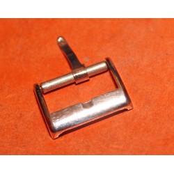RARE 1940 ORIGINALE ROLEX BOUCLE ARDILLON PLAQUE OR ROSE 16mm, 14mm pour bracelets cuir NEUVE DE STOCK