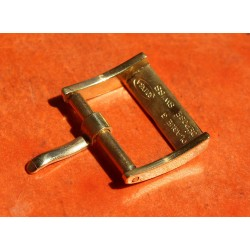 RARE 1940 ORIGINALE ROLEX BOUCLE ARDILLON PLAQUE OR JAUNE16mm, 14mm pour bracelets cuir NEUVE DE STOCK