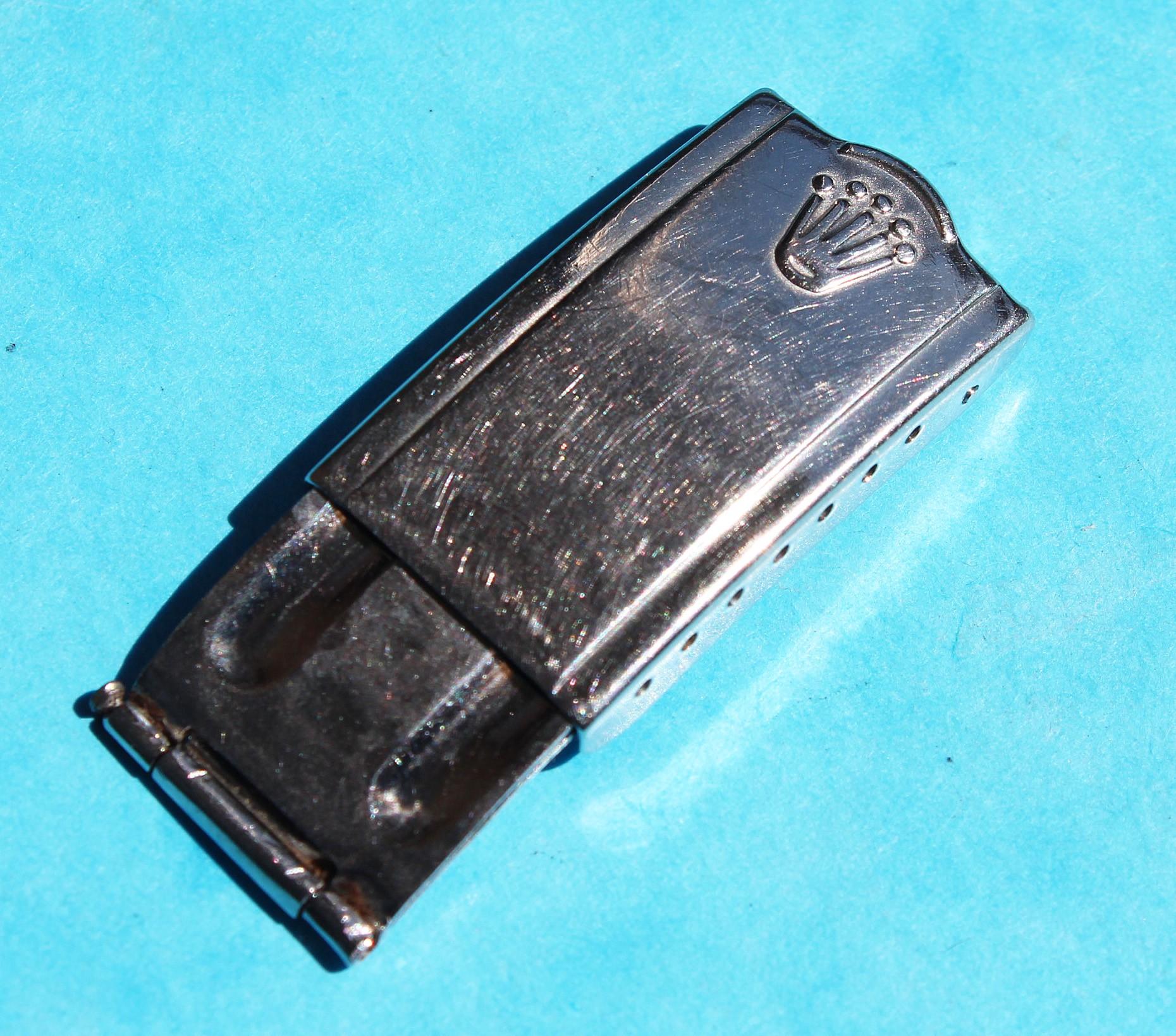 VINTAGE FERMOIR DÉPLOYANT BOUCLE ROLEX 6542 /1675 JUBILEE USA 14k Trim Datejust ACIER