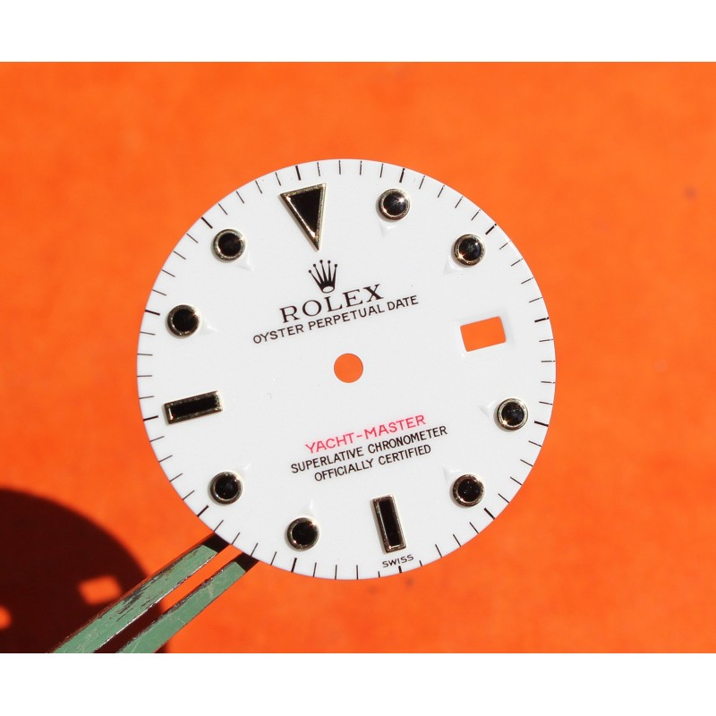 AUTHENTIQUE ROLEX CADRAN YACHTMASTER BLANC EMAIL 16622, 16623, 16628, 116622 -27mm-