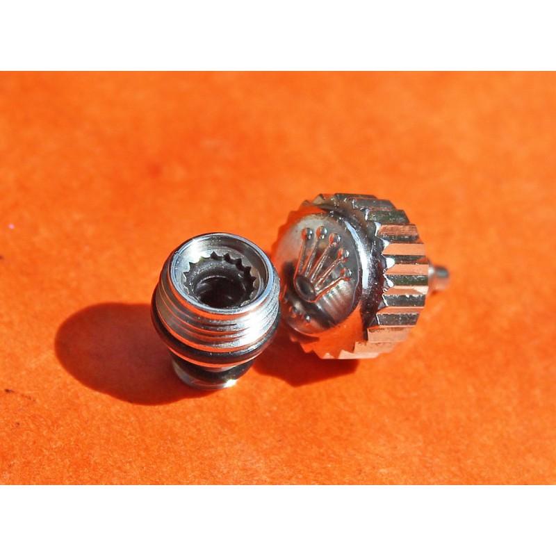 Rolex GENUINE Submariner Triplock Crown + tube SSteel New 7mm watches 14060, 14060M, 16800, 168000, 16610 & Daytona 116520
