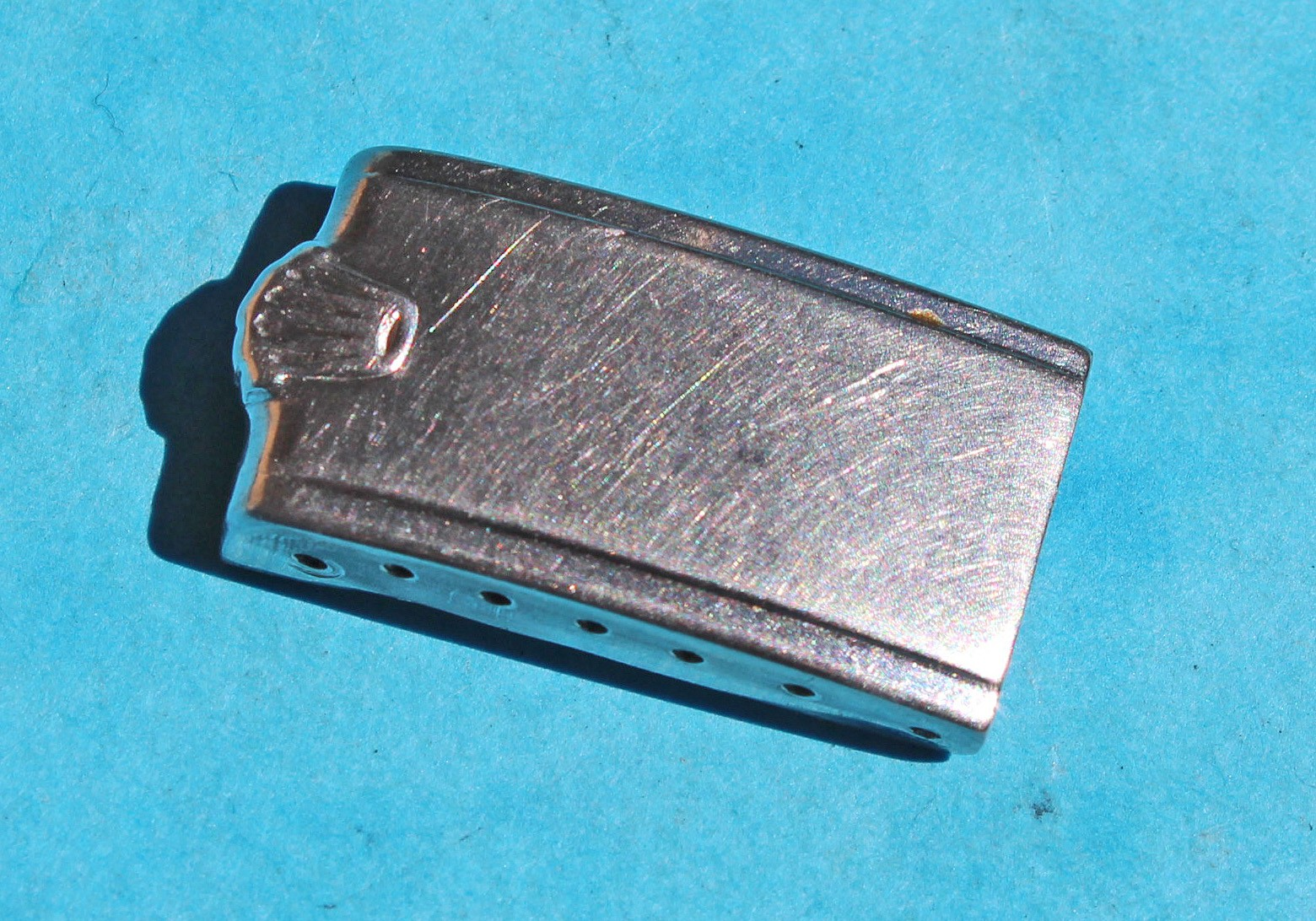 """ROLEX 7205, 6635 BOUCLIER FERMOIR """"BIG CROWN"""" ACIER de 13.20mm BRACELET RIVET 19/17mm PRECISION OYSTER"""