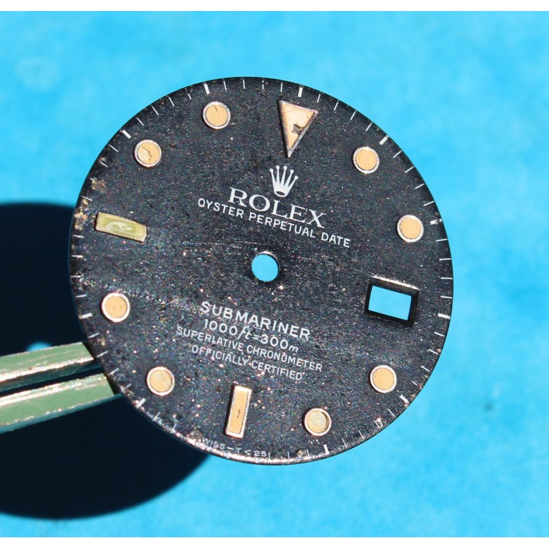 ROLEX SUBMARINER DATE TRANSITION CADRAN 16800, 168000, TRITIUM cal auto 3035