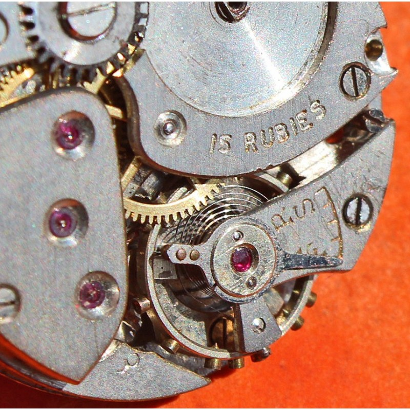ROLEX used vintage 40's Mechanical Wristwatch Movement 15 rubies for repair or restore