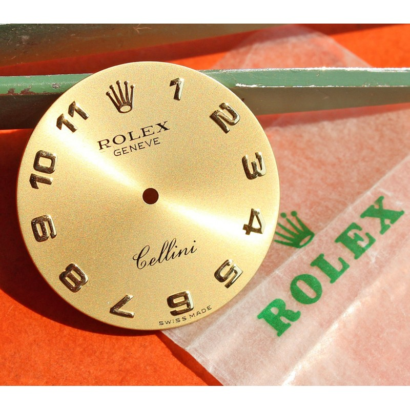 ROLEX CELLINI GOLD DIAL BLOND SHADES ref 5115, 5115.8 ARABICS NUMBERS, cal 1601 Manual winding