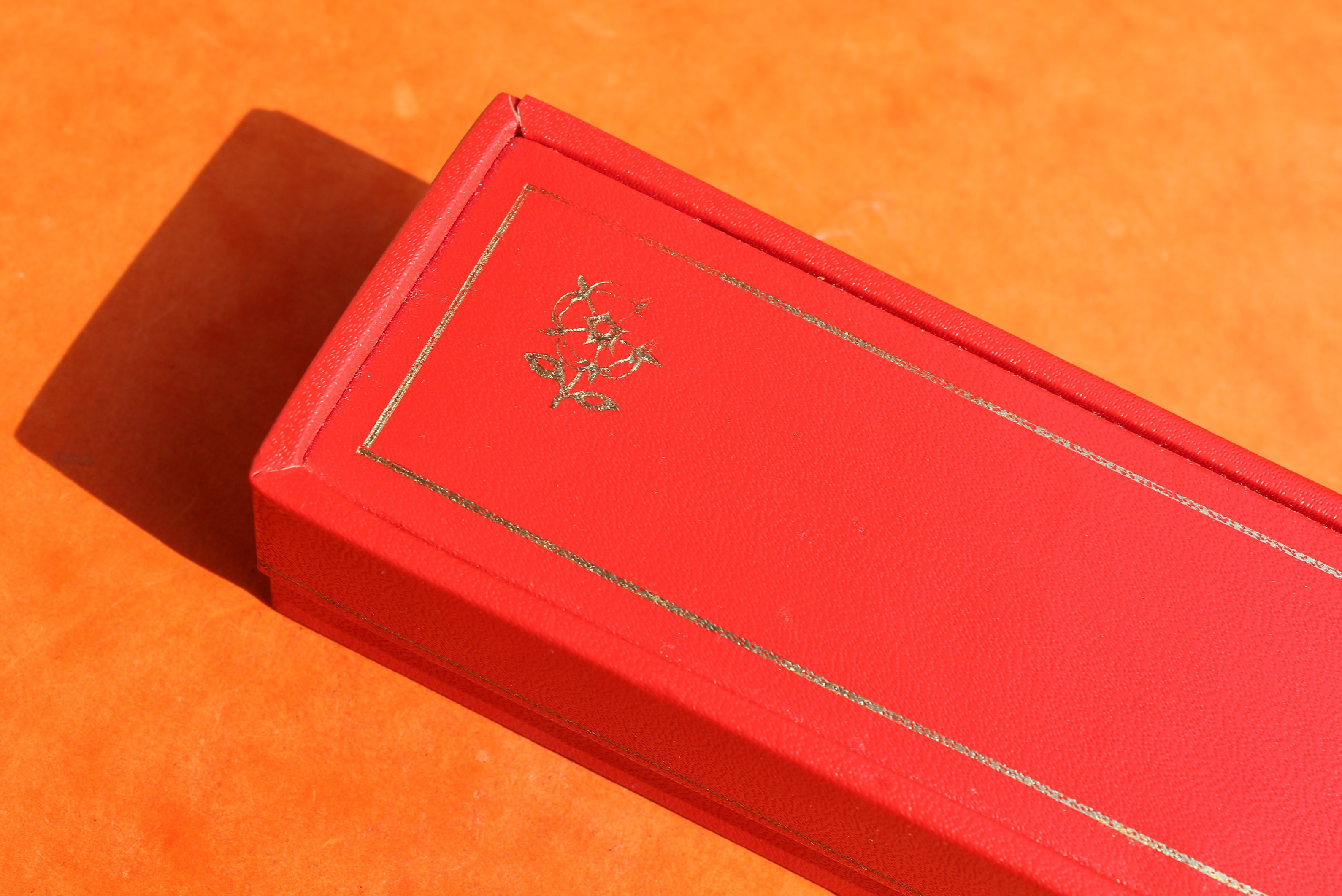 ROLEX TUDOR 50's VINTAGE BIG ROSE BOXSET RECTANGLE OBLONG COLLECTABLE INNER & OUTER WATCH BOX