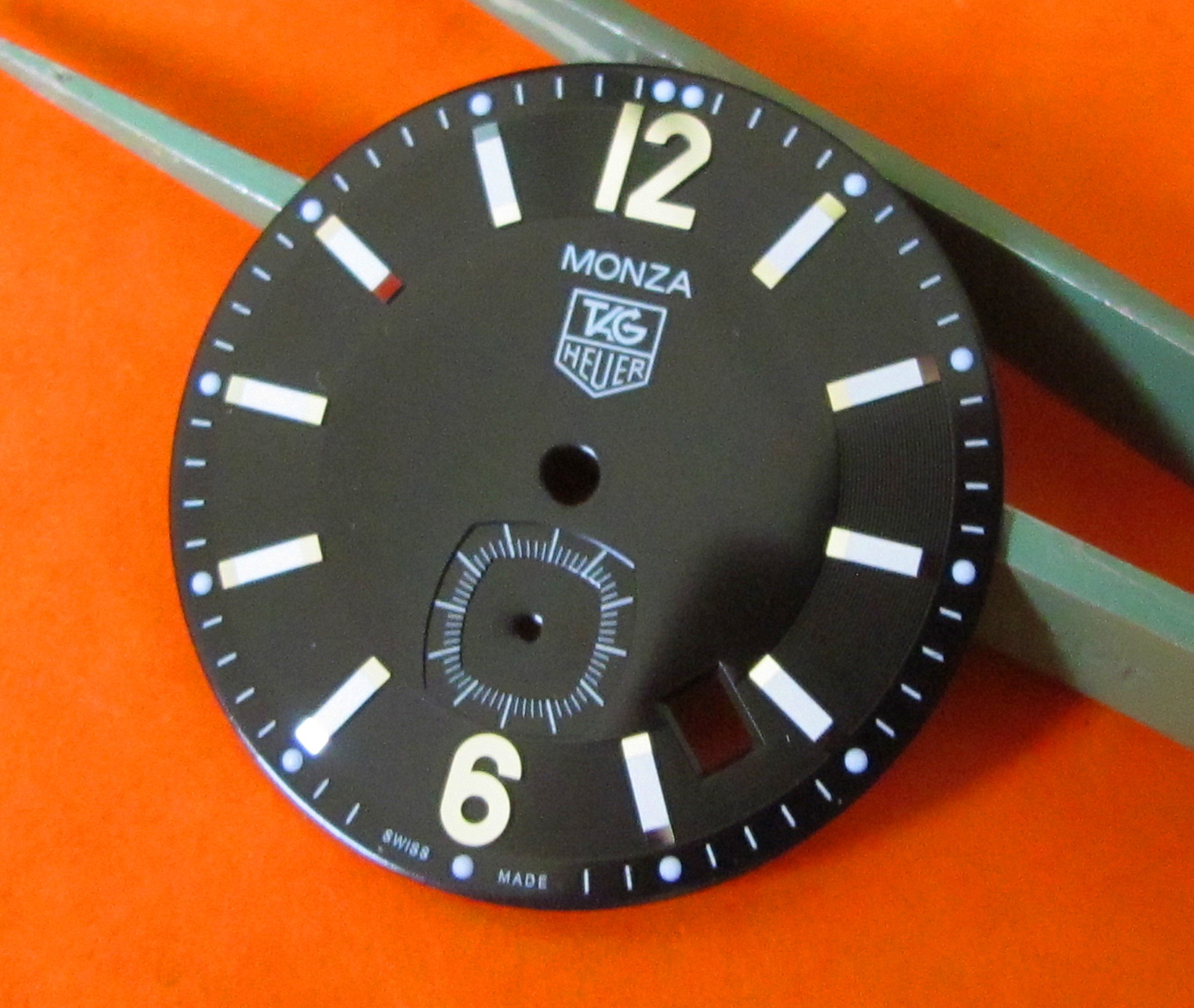 GREAT TAG HEUER BLACK DIAL MONZA NEW !!