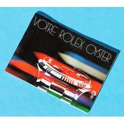 """RARE LIVRET, MANUEL, NOTICE MONTRES ROLEX """"VOTRE ROLEX OYSTER"""" 1982 EN FRANCAIS"""