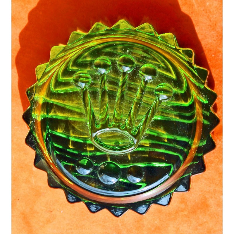 ♛♛ Rare Collectible Rolex Green Triplock Submariner Crown Paperweight Crystal Clipboard New ♛♛