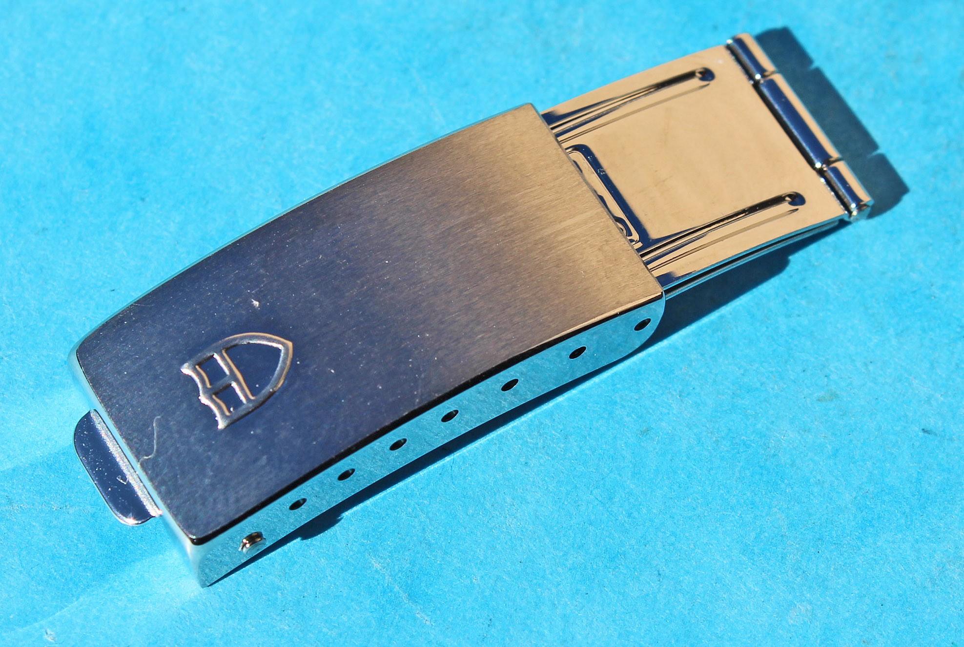 AUTHENTIQUE TUDOR FERMOIR DEPLOYANT ACIER Ref 7835 BRACELET ACIER A MAILLONS PLIES 19mm
