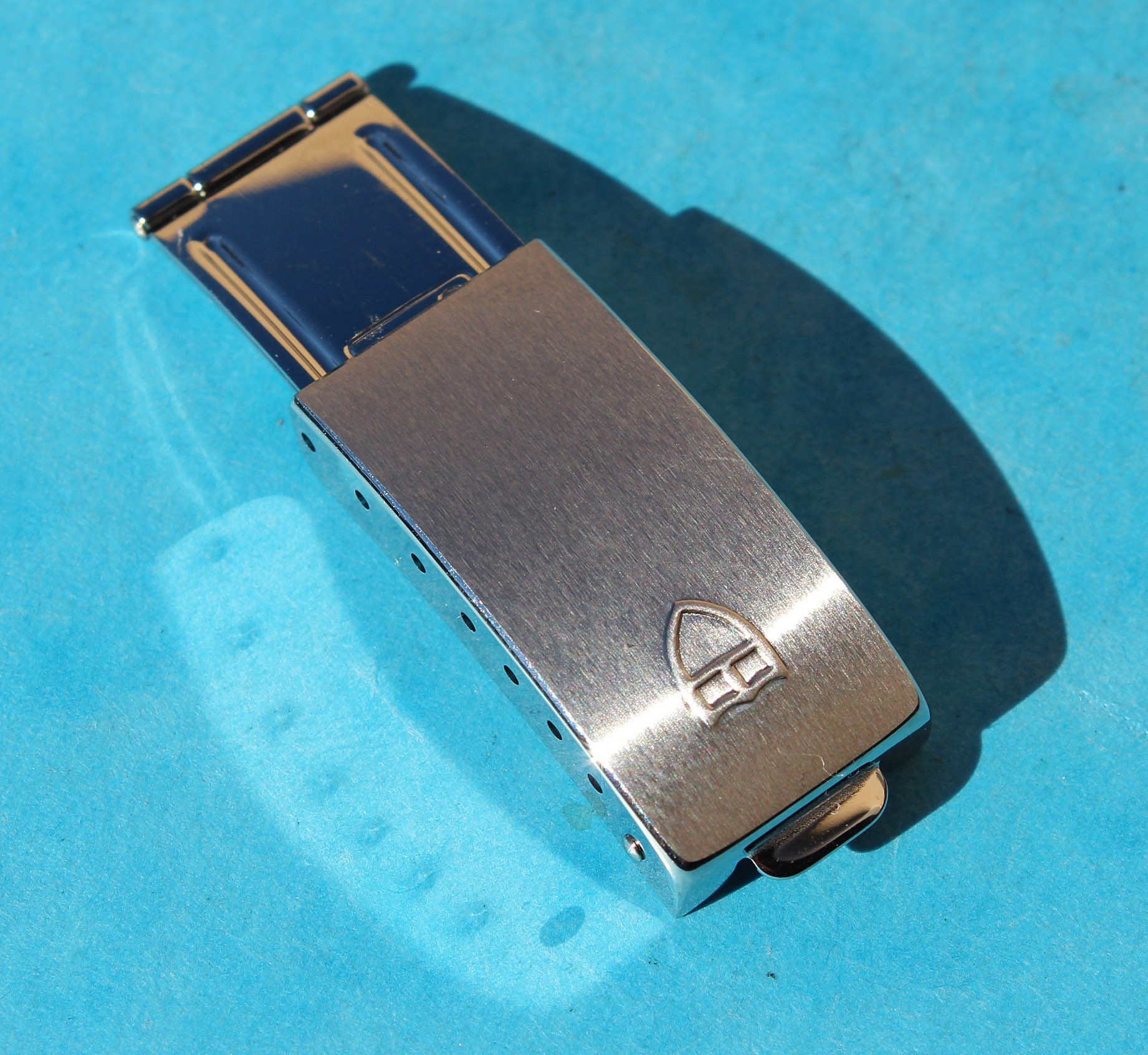 GENUINE TUDOR 7835 FOLDED DEPLOYANT CLASP WATCHES BANDS NEW FOR 19mm BRACELET FOLDED LINK ROLEX