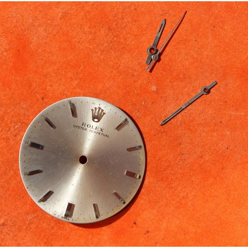 Rolex cadran argent Oyster Perpetual Ref 5552 avec aiguilles tritium, Montre vintage 1966 calibre automatique 1520