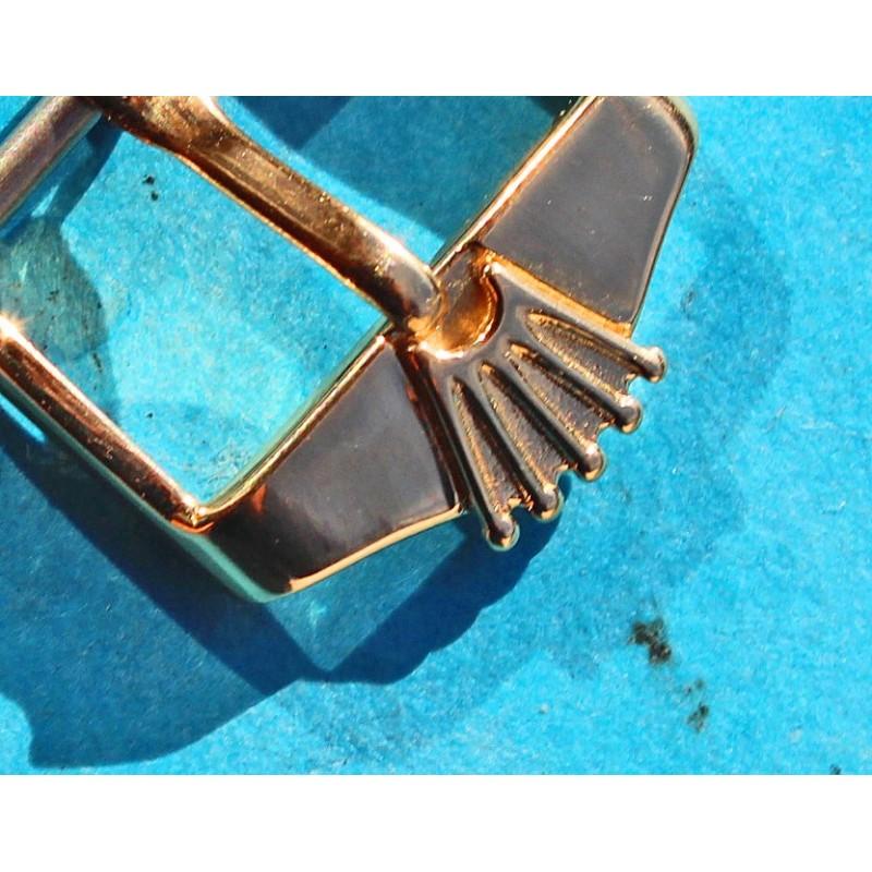 ♛ VINTAGE BOUCLE ARDILLON MONTRES ROLEX OR 14 carats 0.585 16mm pour bracelets cuir 20mm BIG LOGO BIG CROWN ♛