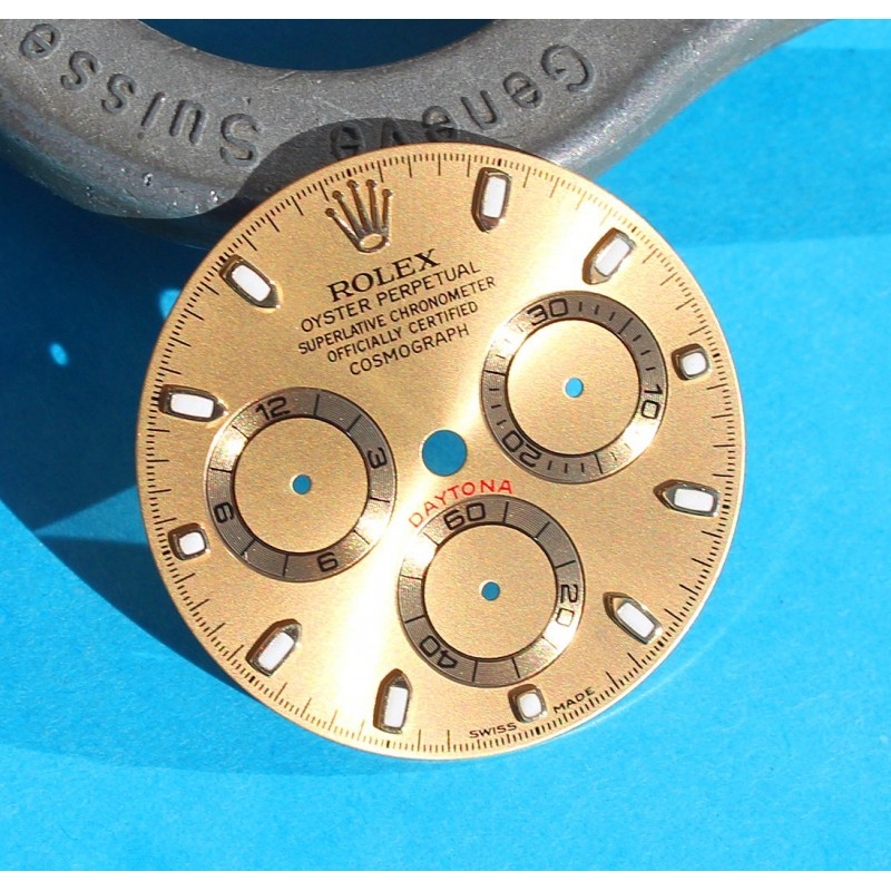 ☆☆ Luxury Original Rolex 116528, 116523, 116520 Mens Gold & Black Daytona Champagne Dial Cosmograph chronos cal 4130 ☆☆