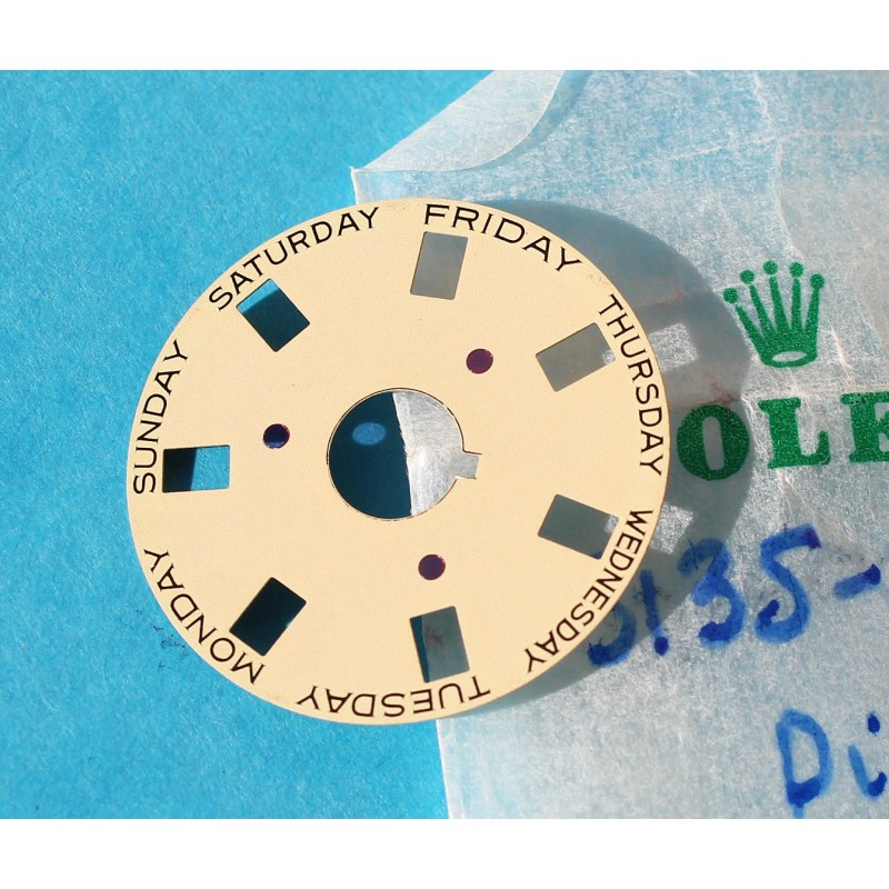 Genuine Rolex Champagne Date Disc 3055, 5055 Part Ref 5134 101 President Day Date watches